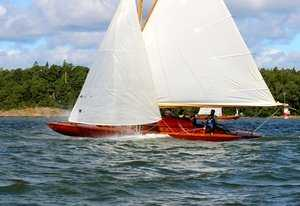 Yachts with wooden case