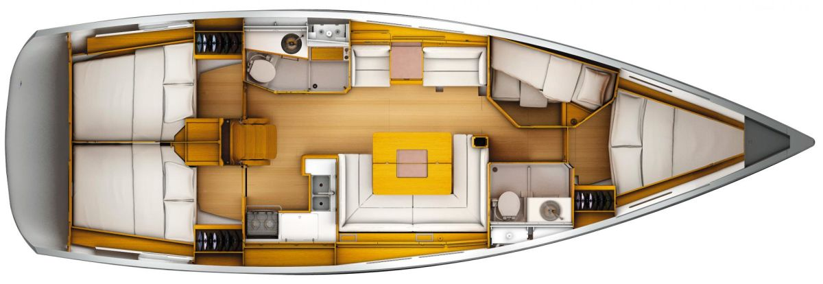 Jeanneau Sun Odyssey 449 Lower Deck (Optional)